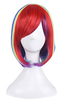 Bursts of Europe and America Anime Wig Red Gradient Bobo Wig Short Hair 10inch