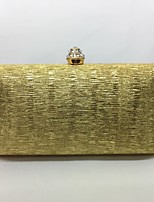 Women Evening Bag Metal All Seasons Event/Party Pillow Push Lock Black Gold Champagne