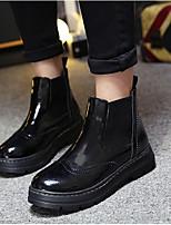 Women's Boots Comfort PU Spring Casual Comfort Black 1in-1 3/4in