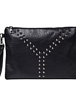 Women Clutch PU All Seasons Casual Outdoor Square Zipper Black