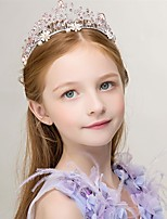 Girl's Crown Headband Crystal Decorative Flower Girl Hair Accessory