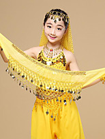 Belly Dance Hip Scarves Girls' Performance Chiffon Sequin 1 Piece Hip Scarf