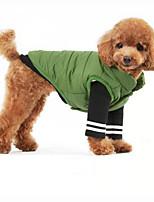 Собака Жилет Одежда для собак Спорт Сплошной цвет Темно-синий Зеленый Синий Розовый Темно-зеленый