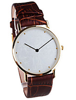 Men's Dress Watch Fashion Watch Quartz Water Resistant / Water Proof Leather Band Black Brown