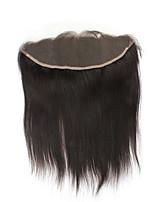 Роскошные прямые бразильские виргинские волосы 13x4 ухо для ушей кружево переднее закрытие с естественной частью без волос