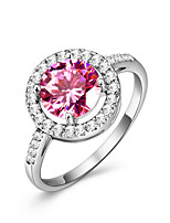 Women's Ring Ruby  Cubic Zirconia Classic Elegant Gemstone Ring Jewelry For Wedding Anniversary Engagement Daily