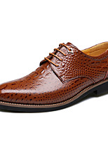 Men's Oxfords Comfort Leather Wedding Office & Career Party & Evening Walking