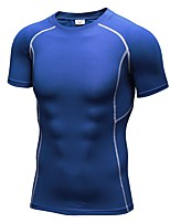 Yoga Compression Clothing T-shirt Fitness, Running & Yoga Stretchy Sports WearYoga Running/Jogging Exercise & Fitness Leisure Sports
