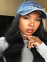 Big Body Wave Natural Color Human Virgin Hair 130% Density Lace Front Wig with Baby Hair for Black Women