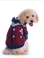 Dog Coat Dog Clothes Casual/Daily British Gray Red