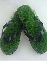 Men's Slippers & Flip-Flops Comfort PVC Summer Casual Black Flat