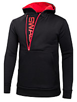 Men's Plus Size Daily Casual Sports Formal Outdoor clothing Fashion Hoodie Color Block Characters Hooded Micro-elastic Cotton BlendLong