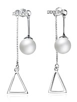 Women's Drop Earrings Imitation Pearl AAA Cubic ZirconiaBasic Circular Unique Design Dangling Style Rhinestone Natural Geometric