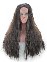 Brown Color Long Wave Cospaly Africa American wigs Synthetic Ladys' Wigs