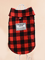 Dog Sweatshirt Dog Clothes Casual/Daily Plaid/Check Black/White Ruby