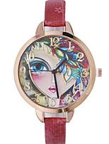 Жен. Модные часы Наручные часы Кварцевый Кожа Группа Богемные Черный Красный Коричневый Золотистый Темно-синий Роуз