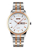 Skmei® Men's Dress Stainless Steel Strap Quartz Wrist Watch 30m Waterproof Assorted Colors