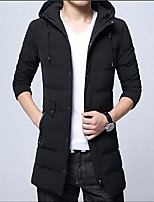 Men's Padded Coat,Simple Street chic Daily Casual Solid-Cotton Polyester Polyester Cotton Long Sleeve