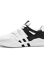 Men's Sneakers Comfort Spring Summer Fall Winter Tulle Walking Shoes Casual Outdoor Party & Evening Lace-up Flat Heel White Black