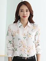 Для женщин На выход На каждый день Офис Вечеринка/коктейль Весна Осень Блуза Воротник-стойка,Очаровательный Уличный стиль Изысканный