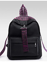 Women Backpack Other Leather Type All Seasons Casual Round Zipper Fuchsia Yellow Amethyst