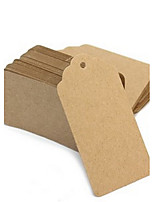 50pcs Brown Kraft Paper Tag 9.5*4.5cm/pcs DIY Wedding Favor Beter Gifts® Practical DIY Thank You Tag