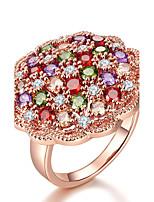 Damen Ring Multi-Stein Kubikzirkonia bezaubernd Elegant Kubikzirkonia Blumenform Schmuck Für Hochzeit Verlobung Zeremonie
