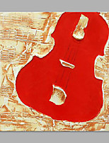 IARTS® Hand Painted Oil Painting Modern Red Violin Object Abstrct Art Acrylic Canvas Wall Art For Home Decoration