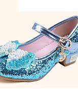 Girls' Flats Comfort Flower Girl Shoes Leatherette Summer Fall Casual Dress Comfort Flower Girl Shoes Sequin Buckle Flat HeelBlushing
