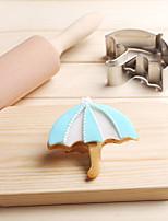 Umbrella Parasol Rain Cookies Cutter Stainless Steel Biscuit Cake Mold Metal Kitchen Fondant Baking Tools