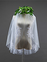 Wedding Veil Two-tier Elbow Veils Cut Edge Tulle