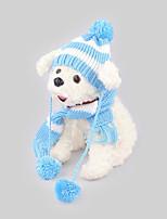 Собака Банданы и шляпы Одежда для собак На каждый день Сохраняет тепло Полоски Синий Розовый