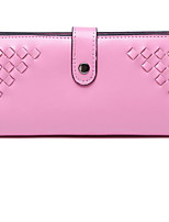 Women Checkbook Wallet Cowhide All Seasons Casual Rectangle Button Blushing Pink Fuchsia Aquamarine