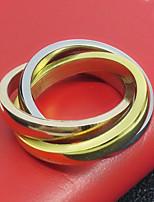 Жен. Кольцо Базовый дизайн Титановая сталь Бижутерия Назначение День рождения Вечерние Повседневные Для вечеринок