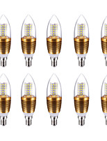 10W Ampoules Bougies LED C35 60 SMD 2835 700 lm Blanc Froid V 10 pièces