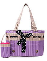 Cat Dog Carrier & Travel Backpack Pet Carrier Portable Breathable Foldable Stripe Blushing Pink Purple