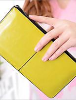 Women Clutch PU All Seasons Casual Outdoor Rectangle Zipper Amethyst Yellow Black