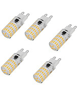 4W Двухштырьковые LED лампы T 46 SMD 4014 350-450 lm Тёплый белый Холодный белый AC220 V 5 шт.