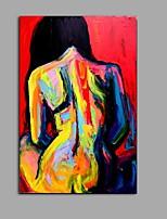 Pintados à mão Transparente Vertical,Abstracto 1 Painel Tela Pintura a Óleo For Decoração para casa