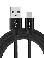 ONTEN USB 2.0 Cable USB 2.0 to USB 2.0 Type C Cable Male - Male 2.0m(6.5Ft)