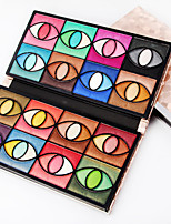 80 Color Eyeshadow Palette Dry Eyeshadow palette Pressed powder Normal Daily Makeup Brush