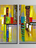 Hand-Painted  Abstract Oil Painting Set of 2 With Stretcher For Home Decoration Ready to Hang