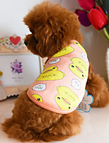 Dog Vest Dog Clothes Casual/Daily Cartoon Blue Dark Blue Orange