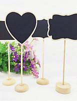 6 Pcs/ Group Wooden Chalkboard Backboard Wedding Party Table Decor Message Number Tag  Blackboards