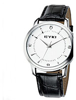 Women's Men's Sport Watch Fashion Watch Quartz Leather Band Casual White