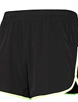 Running Shorts Moisture Wicking Quick Dry Shorts for Running/Jogging Exercise & Fitness Loose Black/Green