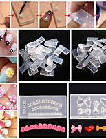 30pcs Mixed Crystal a Carved Mold Silicone Material Nail Art DIY