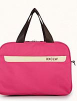 Men Travel Bag Oxford Cloth All Seasons Casual Outdoor Round Zipper Peachblow
