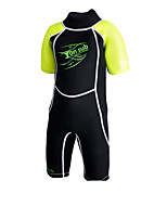 Children's 2mm Shorty Wetsuit Sports Chinlon Diving Suit Short Sleeve Diving Suits-Diving & Snorkeling Spring/Fall Solid