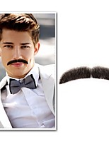 Neitsi 1Pcs Men's Moustache 100% Human Hair Handmade Moustache Fashion Cosplay Accessories EM-751MHH
